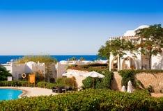 Egypt. Red sea day. Beach, pool, palms Stock Photo