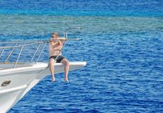 Egypt, Red Sea. Male tourist Stock Photos