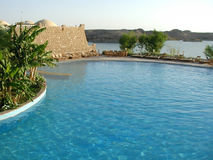 Egypt Resort. Resort Hotel on the Nile at Abu Simbel, Egypt Stock Image