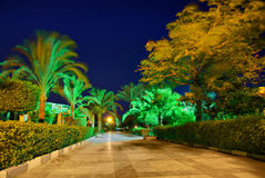 Egypt resort night hdr Stock Photo