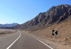 Egypt. Road. Mountain views. Nature of Egypt. Royalty Free Stock Image