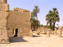 Egypt ruins. Ruins City of Luxor and Karnak in Egypt Royalty Free Stock Images