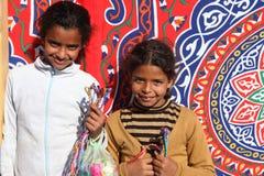 egypt säljaregata royaltyfri foto