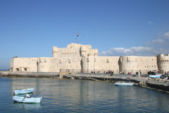 Egypt's Alexandria. Is one of the world's most beautiful port, which face the beautiful Mediterranean Royalty Free Stock Photo