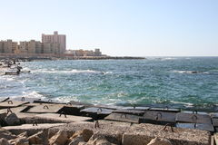 Egypt's Alexandria. Is one of the world's most beautiful port, which face the beautiful Mediterranean Royalty Free Stock Image