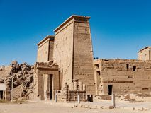 Egypt`s ancient temple of Philae. Egyptian civilization history well preserved at one of the most well known Egyptian temples in modern Egypt stock photography