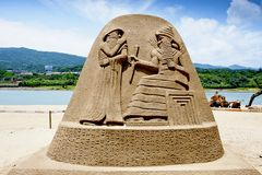 Egypt sand sculpture Royalty Free Stock Photo