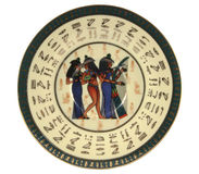egypt saucer Royaltyfria Bilder