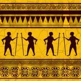 egypt seamless texturtema stock illustrationer