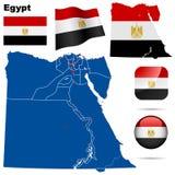 egypt set vektor illustrationer