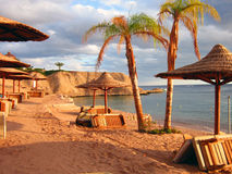 Egypt Sharm El Sheikh beach and sea. relax. Beauty Royalty Free Stock Images