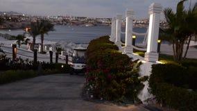Egypt Sharm el Sheikh Hotelgebiet stock video footage