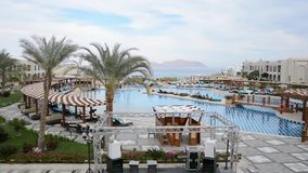 Egypt Sharm el Sheikh Hotelgebiet stock video