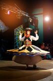 Egypt, Sharm El Sheikh, May 31, 2015, the Arab man is dancing the national Egyptian dance skirt Stock Images