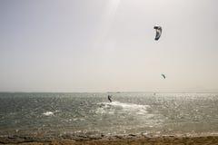Fun on kite in Egypt red sea Stock Photo