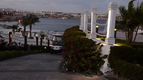 Egypt Sharm el Sheikh Território do hotel vídeos de arquivo