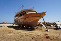 Egypt shipyard Stock Images