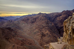 Egypt, Sinai Mountains. One on the edge of the abyss Stock Photography