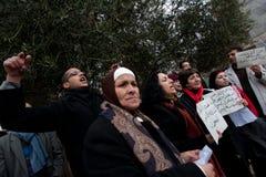 Egypt Solidarity Rally in Jerusalem Stock Photos