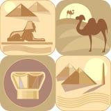 egypt som löper stock illustrationer