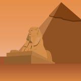 egypt sphinx royaltyfri illustrationer