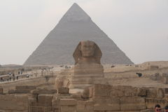 Egypt. Sphinx and Pyramid Stock Photos