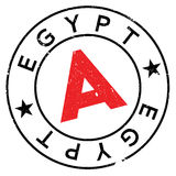Egypt stamp rubber grunge Stock Image