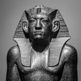 Egypt statue of Ramses the Great.  Royalty Free Stock Images