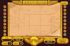 EGYPT style Casino slot machine game. Complete Interface Slot Machine and buttons on separate layers. EGYPT style Casino slot machine game. Vector complete royalty free illustration