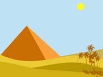 egypt sun royaltyfri illustrationer