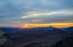 Egypt, sunrise in Sinai mountains Stock Photography