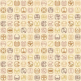 Egypt symbol icon seamless pattern with a lot of symbols such as Royalty Free Stock Photo