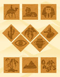 egypt symboler royaltyfri illustrationer