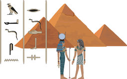 egypt symboler royaltyfri illustrationer