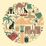 egypt symboler stock illustrationer