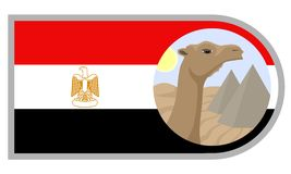 Egypt symbols Stock Photography