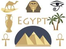 Egypt. Symbols of Egypt. Tourism and adventure. Vecto Royalty Free Stock Photo