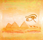 Egypt symbols and Pyramids vector illustration