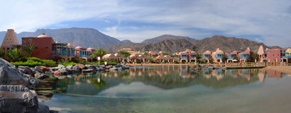 Egypt, Taba, hotel grounds, panorama Stock Photos