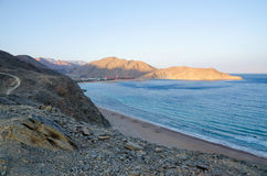 Egypt, Taba, a view of the Gulf of Aqaba Royalty Free Stock Images
