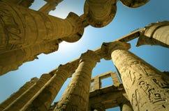 Egypt tajemnica, Luxor, Karnak Zdjęcia Royalty Free