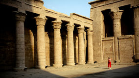 egypt tempel Royaltyfria Foton