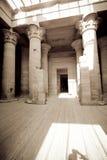 egypt tempel Fotografering för Bildbyråer