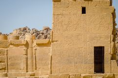 egypt Tempel av Philae, tempel av Isis fotografering för bildbyråer
