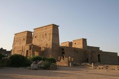 Egypt Temple of Philae Exterior Stock Photo