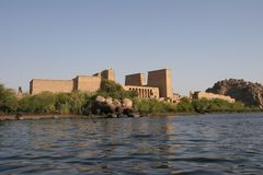 Egypt Temple of Philae Exterior from Sea Royalty Free Stock Image