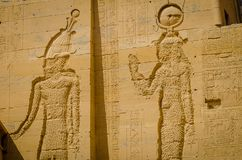 Egypt Templo de Philae, templo do Isis fotografia de stock