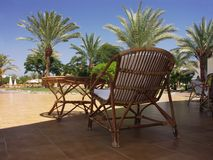 Egypt - terrace with chair and table Stock Image
