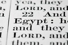 Egypt text Stock Photos