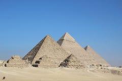 Egypt three pyramids stock photos